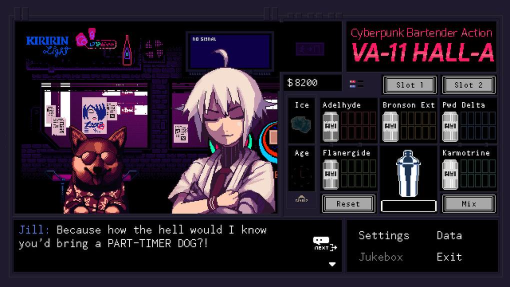 Скриншот №8 к VA-11 Hall-A Cyberpunk Bartender Action